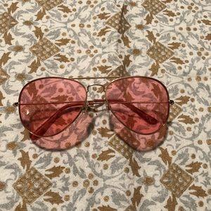 Accessories - Rose colored aviator sunglasses